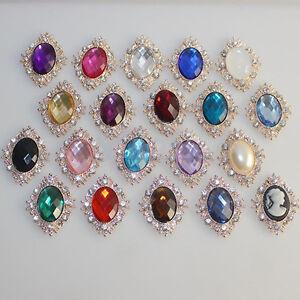 10pcs-Rhinestone-Button-Flatback-Cabochon-Wedding-Embellishment-DIY-Flowery