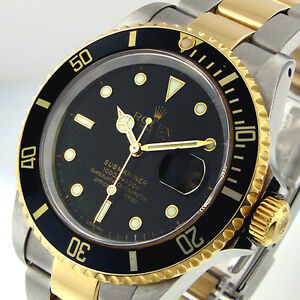 ROLEX-BLACK-SUBMARINER-16613-SUBMARINER-STEEL-18K-YELLOW-GOLD-TWO-TONE
