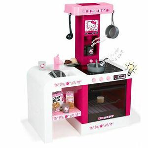 Das Bild Wird Geladen Smoby Hello Kitty Kinderkueche  Spielkueche Soundeffekt Mit 19
