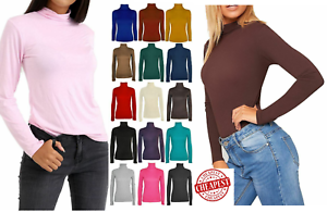 LADIES-WOMENS-POLO-NECK-TURTLE-ROLL-HIGH-NECK-JUMPER-PARTY-TOPS-SIZE-6-24