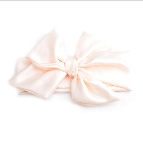 Baby Cotton Big Bow Tie Head Wrap Turban Bowknot Headband Newborn Girl Pip TDCA