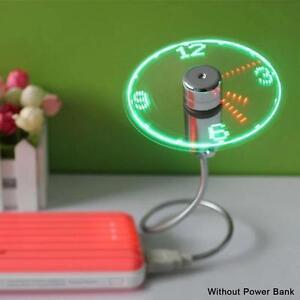 Creative-USB-Gadget-Mini-Cooling-Flexible-Time-LED-Clock-Fan-with-LED-Light-C-amp