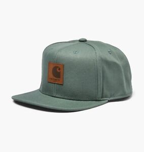 Carhartt-Wip-Logo-Cap-adventure-Green-Snapback-Cotton-Canvas-8-oz-Baseball-Hat