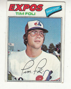 1977-TOPPS-BASEBALL-CARD-76-TIM-FOLI-MONTREAL-EXPOS-EXNM