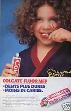 PUBLICITÉ 1980 DENTIFRICE COLGATE FLUOR MFP DENTS PLUS DURES - ADVERTISING