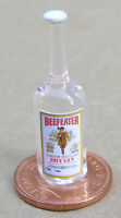 1:12 Real Glass Bottle Of Beefeater Gin Dolls House Miniature Bar Accessory