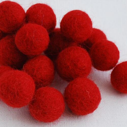 2cm 2,3 cm 1cm 100 compter-Rouge 2,5 cm 3cm 100/% laine feutre balles 1,5 cm