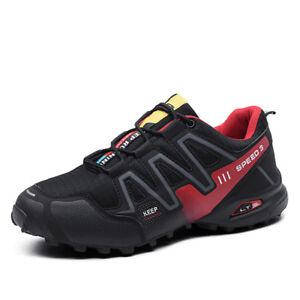7ec366d138af Details about Men s Climbing Trail Sneakers Slip Resistant Sport Outdoor  Hiking Trekking Shoes