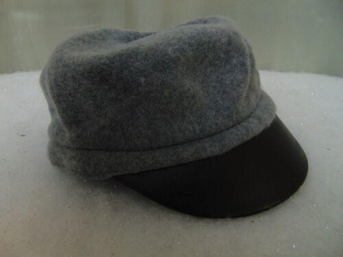 August Accessories Faux-Leather Brim Mixology Modboy Newsboy Hat Gray #6759