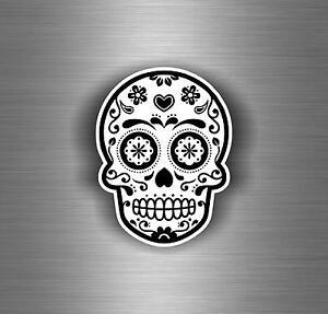Pegatina-autoadhesiva-coche-motorrad-tuning-craneo-sugar-mejicana-tatoo-vinilo