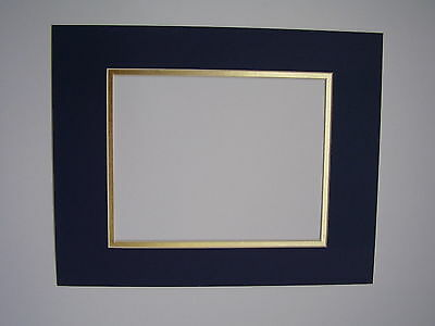 Pack of 5 11x14 Royal Blue /& Gold Double Picture Mats Cut for 8x10 Pictures