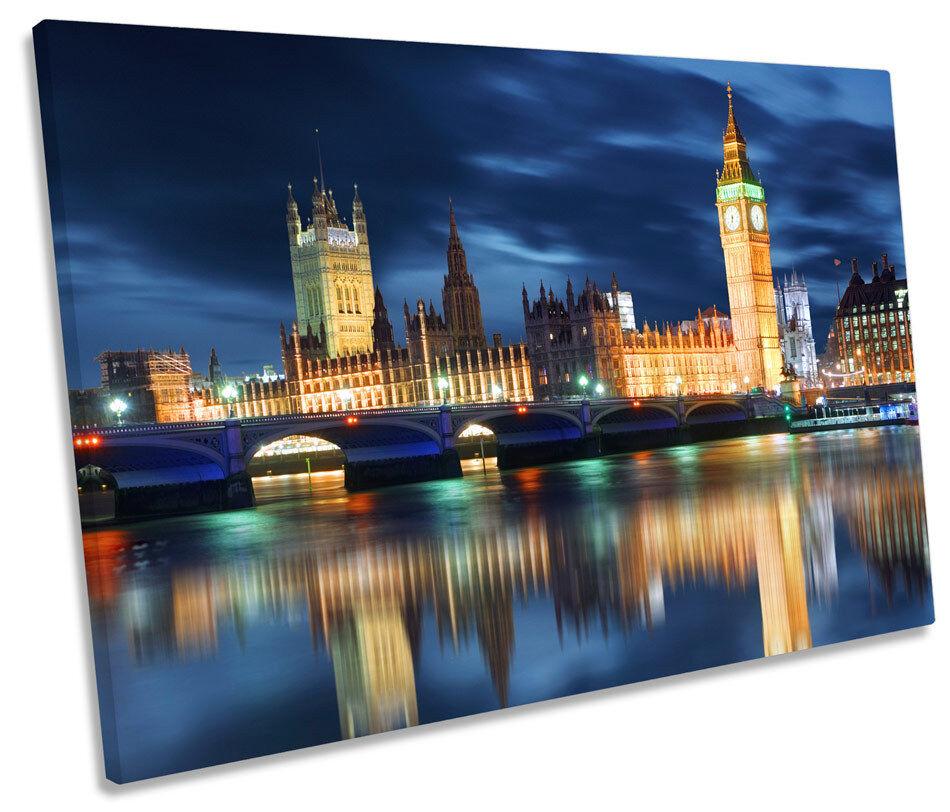 Big Ben City of London SINGLE CANVAS WALL ART Picture Print