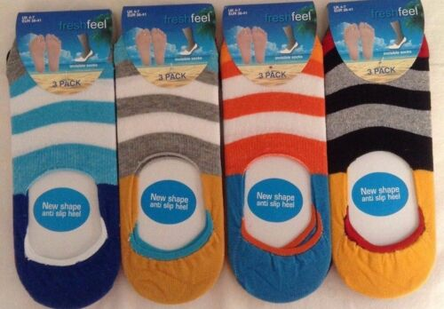 3X LADIES GIRLS WOMEN MULTI COLOURED INVISIBLE TRAINER FOOTSIES RICH COTTON SOCK