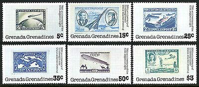 Jubiläum Grenada Grenadinen 263-268 Mnh.lindbergh's Trans-atlantic Flight 50