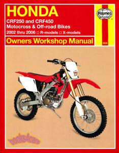 shop manual honda service repair book crf250 crf450 haynes clymer rh ebay com 2006 honda crf450r service manual pdf 2006 honda crf450r specs hp