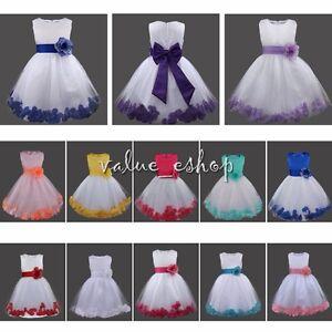 Flower Girl Multi Layer Tutu Lace Dress Multicolor Wedding Party Graduation New