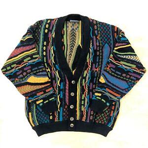 Vintage-Herren-geccu-Bill-Cosby-COOGI-Style-Pullover-80s-90s-Retro-Pullover-Cardigan-3d