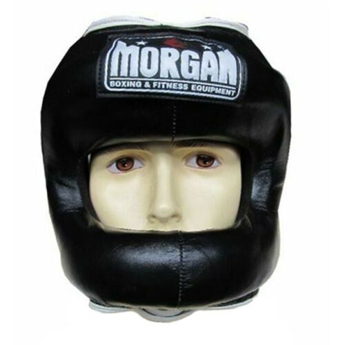 Boxing MMA Wear Nose Protector Leather Sparring Head Guard Morgan Sports