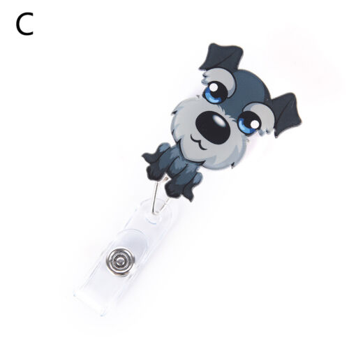 Dog Retractable Badge Reel Student Nurse Exihibiton ID Name Card Badge Holder DZ