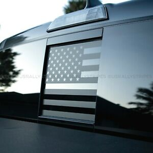 Rear window slider American flag pre-cut vinyl decal for 2016-2020 Toyota Tacoma
