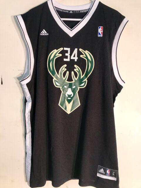adidas NBA Jersey Milwaukee Bucks Giannis Antetokounmpo Black Alt Sz ... 1ac2e9c4b