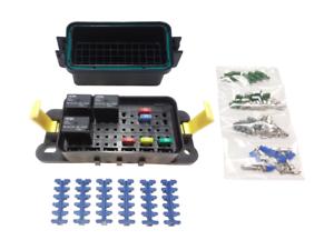 hwb60 alng waterproof fuse panel kit with relays 12v. Black Bedroom Furniture Sets. Home Design Ideas