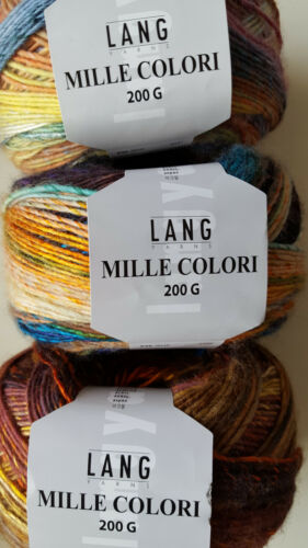 Lang Yarns Mille colori 200 G diferentes colores para elegir