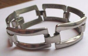 Audacieux Élégant Bracelet Bijou Rétro Couleur Argent Maillons Articulés Ajourés 782 Blanc De Jade