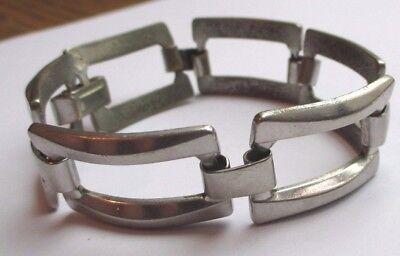 Élégant Bracelet Bijou Rétro Couleur Argent Maillons Articulés Ajourés 782