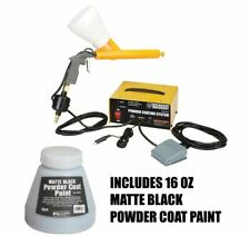Central Machinery Powder Coating System Paint Gun With16 Oz Matte Black Paint