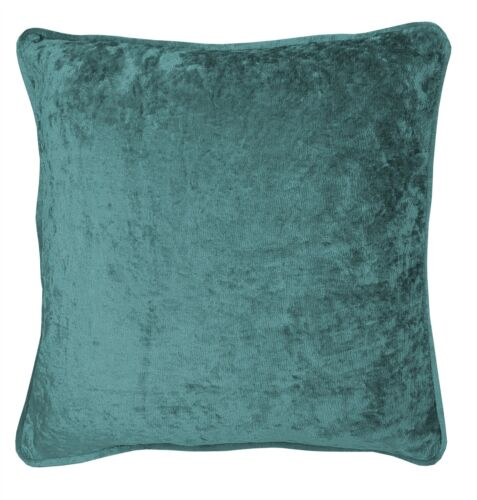 """2 X CRUSHED VELVET TEAL 17/"""" 43CM CUSHION COVERS"""