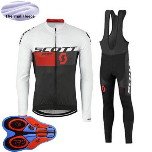 Cycling Thermal Fleece Jersey Bib Pants Kits Men 2020 Winter Warmer Bike Outfits