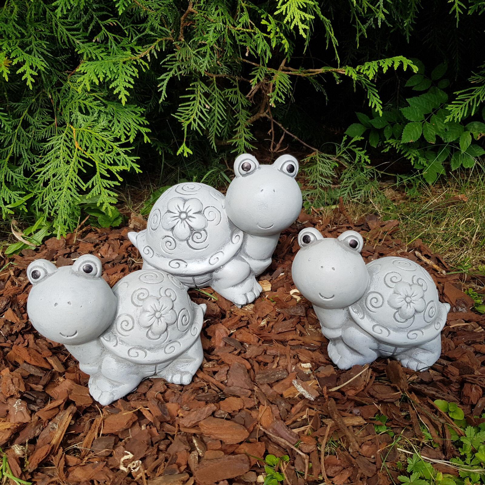Gartendeko frostfest 3-Set süße Schildkröten-Familie Deko Garten Balkon Hochbeet