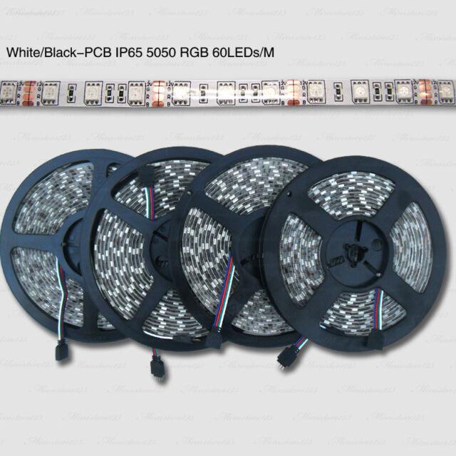 5/10/20/30/50M IP65 SMD W/B-PCB 5050 RGB LED Strip+2.4G RF RGB Remote+Amplifier