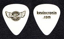 REO Speedwagon Kevin Cronin White Guitar Pick - 2012 Tour