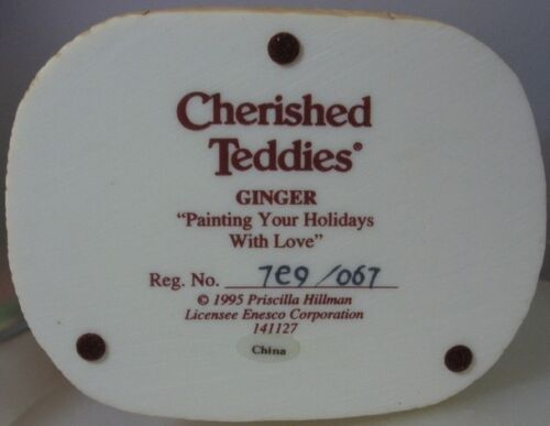"CHERISHED TEDDIES    /""GINGER CHRISTMAS BEARS/""  141127  MINT IN BOX"