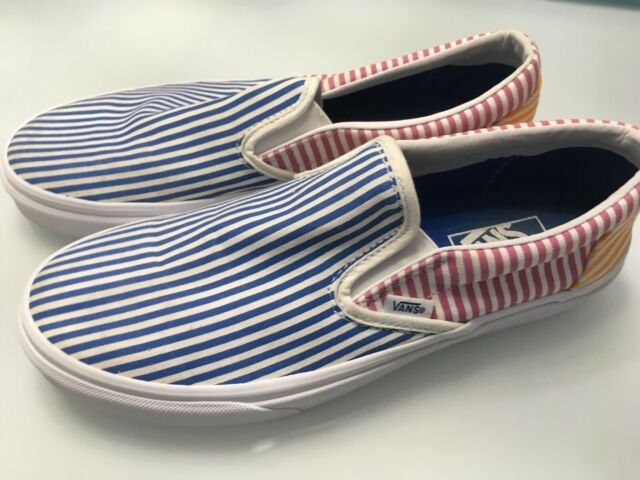 6a4969e8 Vans Classic Slip-On Deck Club Mix Stripes Size US Men's 8.5 VN0A38F7VM0  !Sale!!