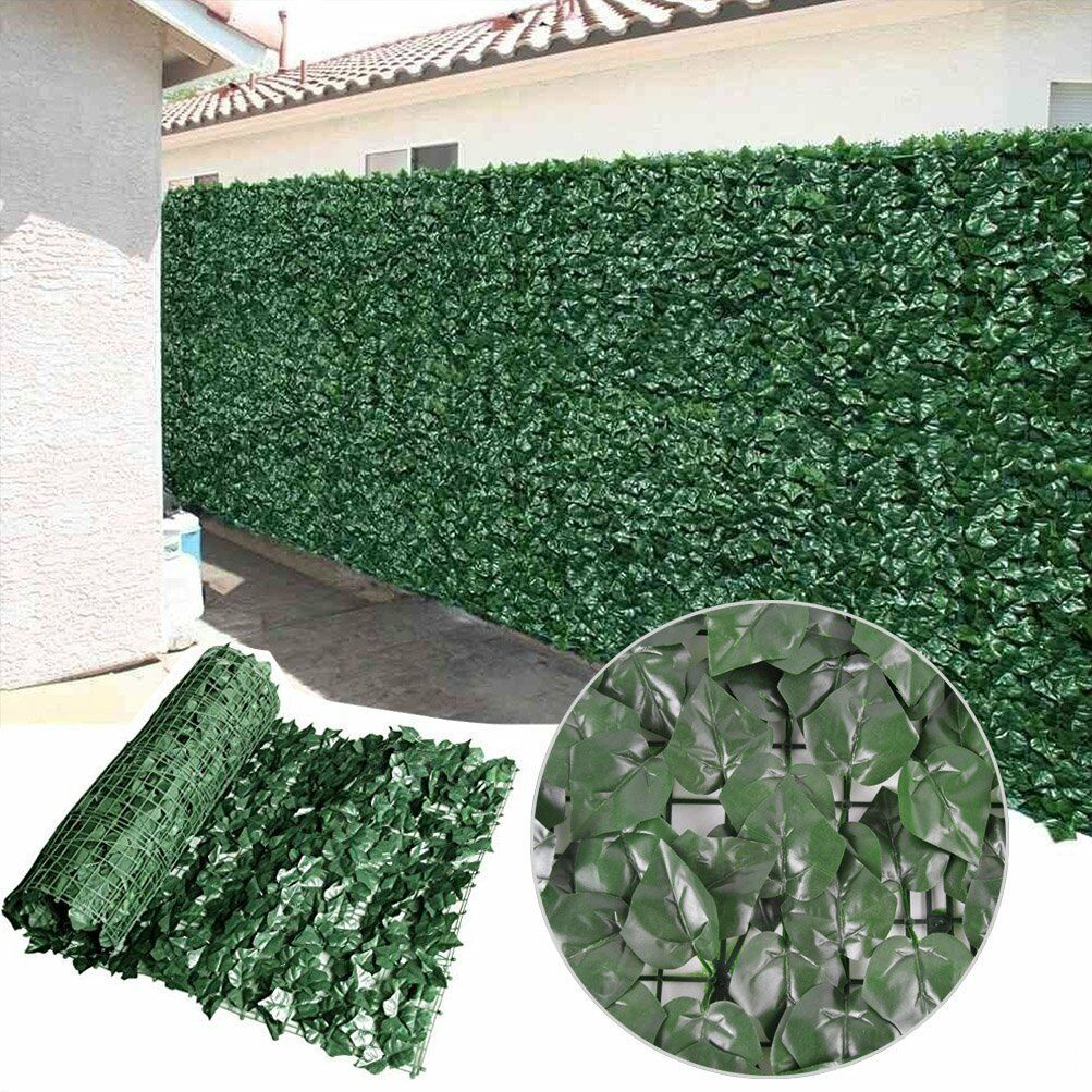 Artificial Ivy Hedge Privacy Fence Screen Panel For Indoor