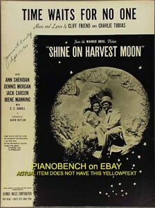 Details about TIME WAITS FOR NO ONE Friend & Tobias DENNIS MORGAN Shine On  Harvest Moon 1944