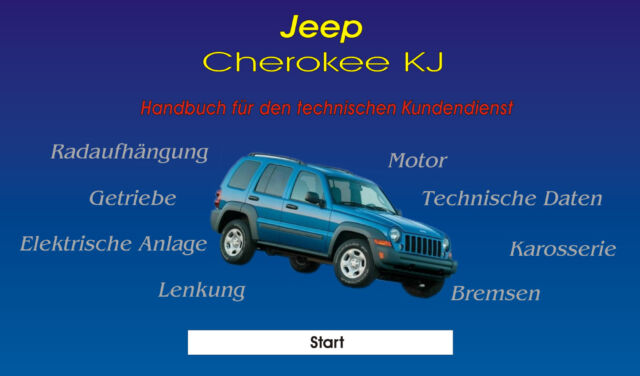 Jeep Cherokee KJ CD réparation Instructions 2.5 CRD 2.4 3.7 Liberty jantes Porte Radio