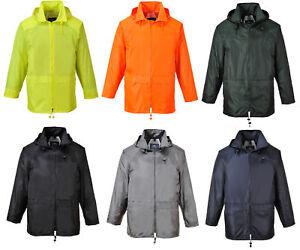 Mens-Portwest-Classic-Rain-Jacket-Waterproof-Coat-S440