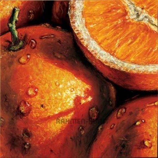 Alma'ch  Oranges Keilrahmen-Bild Leinwand Obst Früchte Küche Esszimmer Orangen