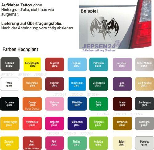 Aufkleber Engel /& Teufel Autoaufkleber 14x10cm S001 Farbwunsch Fun Sticker