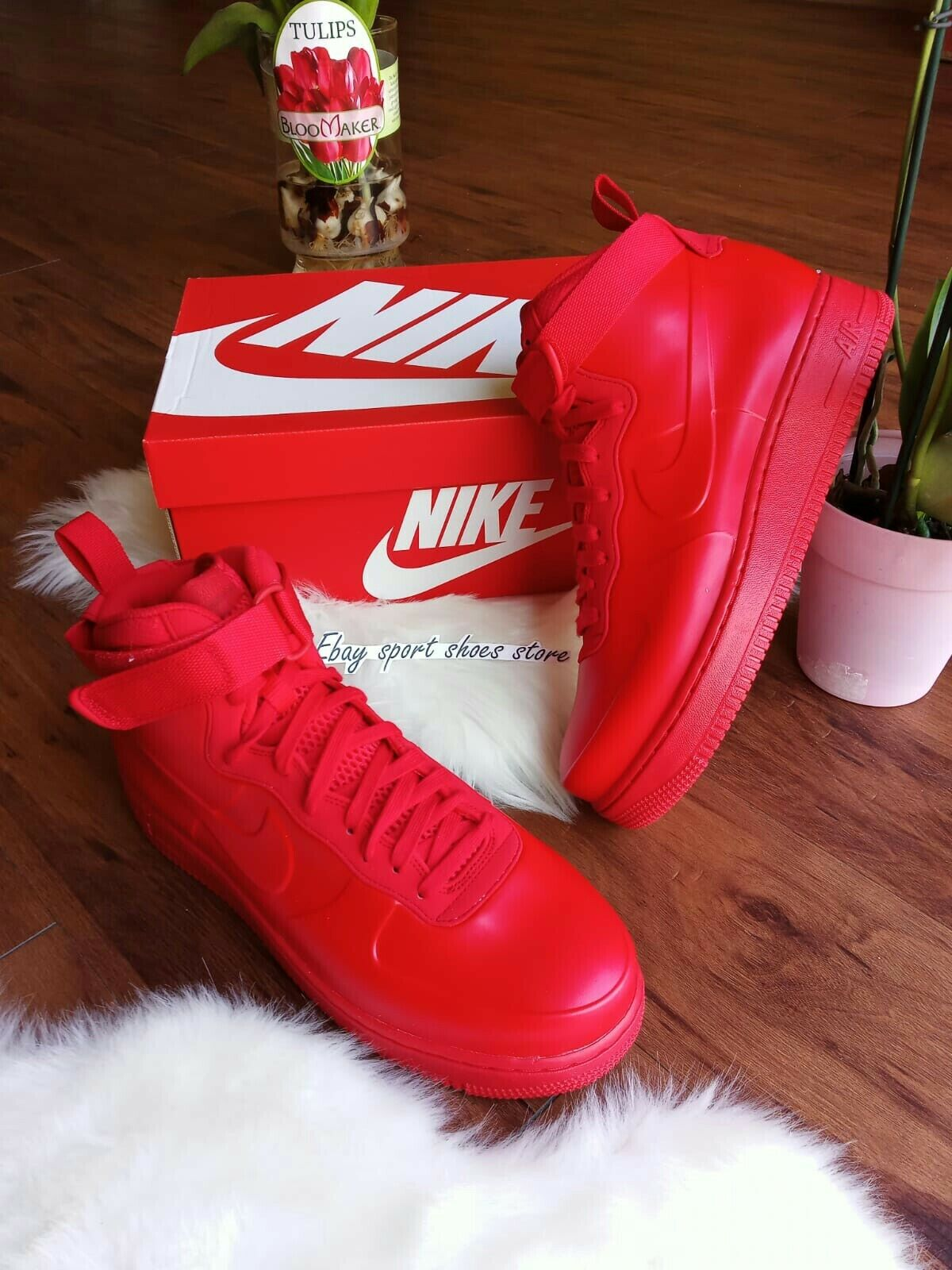10 para Hombre Nike Force 1 1 1 Foamposite Rojo BV1172 Air 600 runing zapatos a761f5