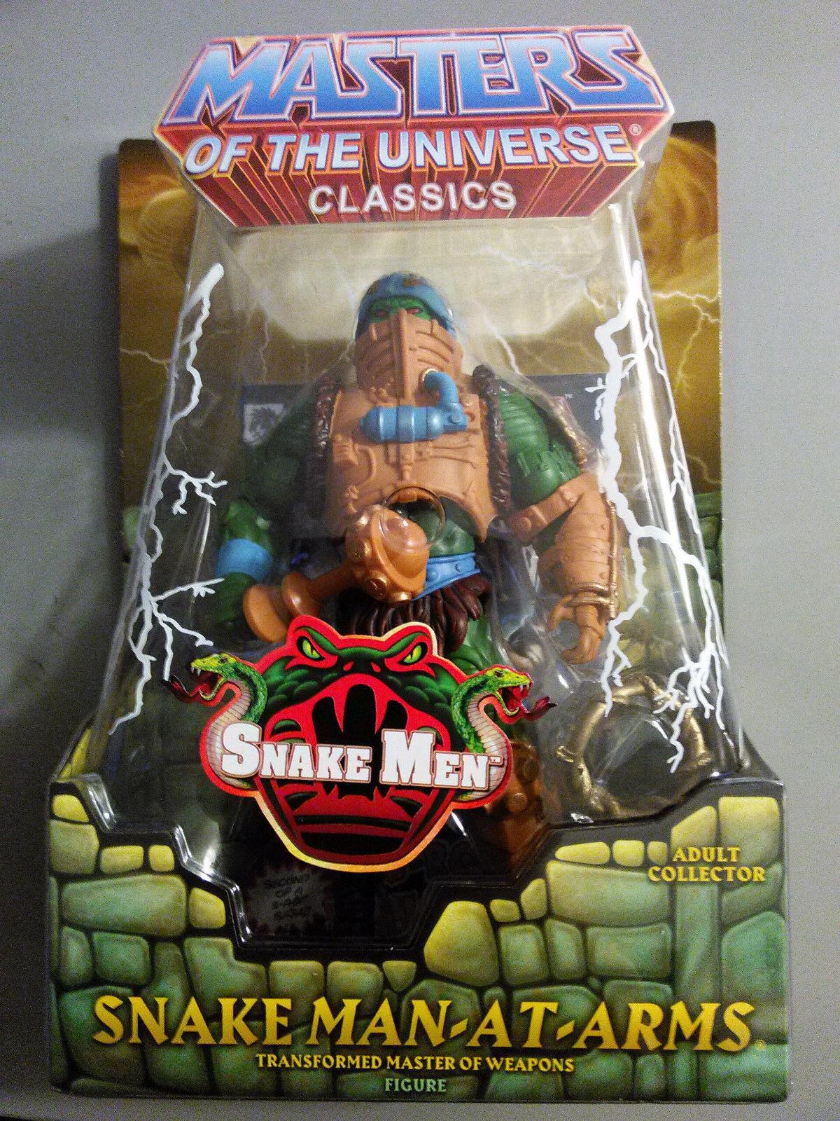 MOTU Classics Snake Man At Arms Figure NEW