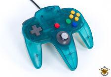 Oficial Controlador de juego de Nintendo 64 N64 Retro-Transparente Blanco/Azul Claro