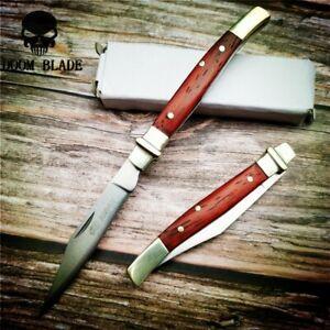 Knives-Pocket-Folding-Knife-Camping-Survival-Knives-Wood-Handle-Sharp-Tactical