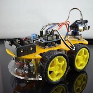 Smart Car Kits >> Bluetooth Multi Function Intelligent Smart Car Kit Uno R3 Diy For