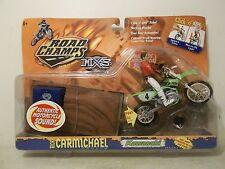 2000 JAKKS MXS RICKY CARMICHAEL CHEVY TRUCKS KAWASAKI KX-250 MX WITH TRACK PIECE