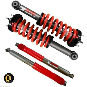 09-13 Ford F-150 2WD 2 Front Leveling Quik-Struts w//Red Springs 2 Rear Shocks